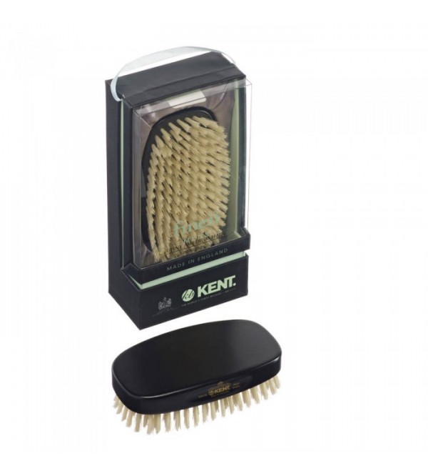 Kent Rectangular Ebony Pure Bristle Brush - MN1B